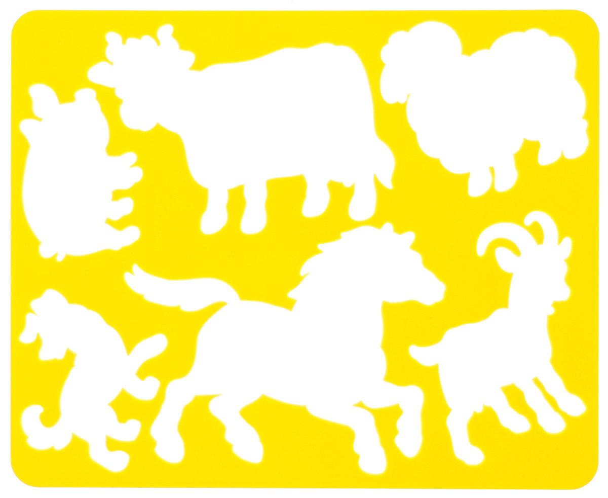 Луч Трафарет прорезной Домашние животные цвет желтый19085_желтыйТрафарет Луч Домашние животные, выполненный из безопасного пластика, предназначен для детского творчества. По трафарету маленький художник сможет нарисовать такие виды домашних животных, как корову, лошадь, собаку, свинью, барана и козу. Для этого необходимо положить трафарет на лист бумаги, обвести фигуру по контуру и раскрасить по своему вкусу или глядя на цветную картинку-образец. Трафареты предназначены для развития у детей мелкой моторики и зрительно-двигательной координации, навыков художественной композиции и зрительного восприятия.