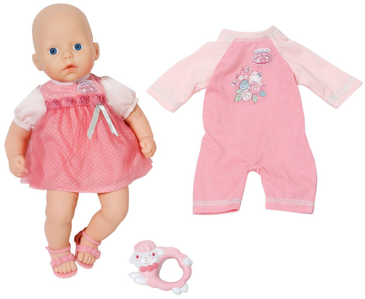 Baby Annabell Пупс в розовом платье794-333Пупс Baby Annabell порадует вашу малышку и доставит ей много удовольствия от часов, посвященных игре с ним. Пупс с голубыми глазками имеет мягконабивное туловище и выглядит как настоящий ребенок. Кукла одета в розовое платье в горох. Ручки и ножки пупса подвижны. Также в наборе имеется игрушка для куклы в виде овечки и комбинезон. Игра с пупсом разовьет в вашей малышке чувство ответственности и заботы. Порадуйте свою принцессу таким великолепным подарком!