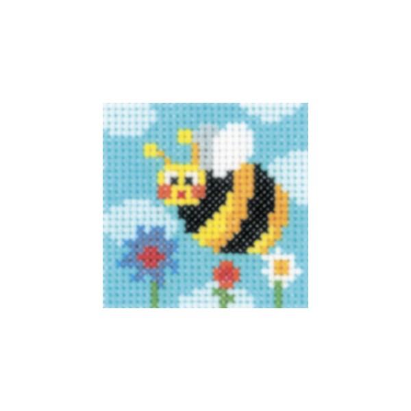 Набор для вышивания RTO Пчела, 5 см х 5 см. MH521MH521Мулине, канва, цветная схема, игла, инструкция