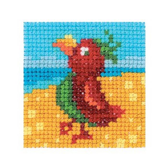 Набор для вышивания RTO Попугай, 5 см х 5 см. MH528MH528Мулине, канва, цветная схема, игла, инструкция