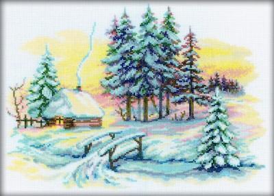 Набор для вышивания RTO Зимние красоты, 35 см х 25 см. M196M196Мулине на карте, разобранное по цветам, канва, символьная схема, игла, инструкция