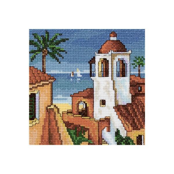 Набор для вышивания RTO Сиеста, 13 см х 13 см. EH339EH339Мулине на карте, разобранное по цветам, канва, символьная схема, игла, инструкция