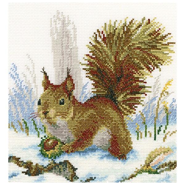 Набор для вышивания RTO Зимнее утро, 20 см х 20 см. M330M330Мулине на карте, разобранное по цветам, канва, символьная схема, игла, инструкция