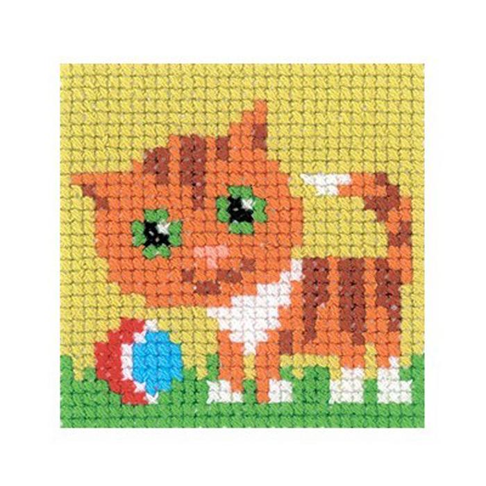Набор для вышивания RTO Кошка, 5 см х 5 см. MH531MH531Мулине, канва, цветная схема, игла, инструкция