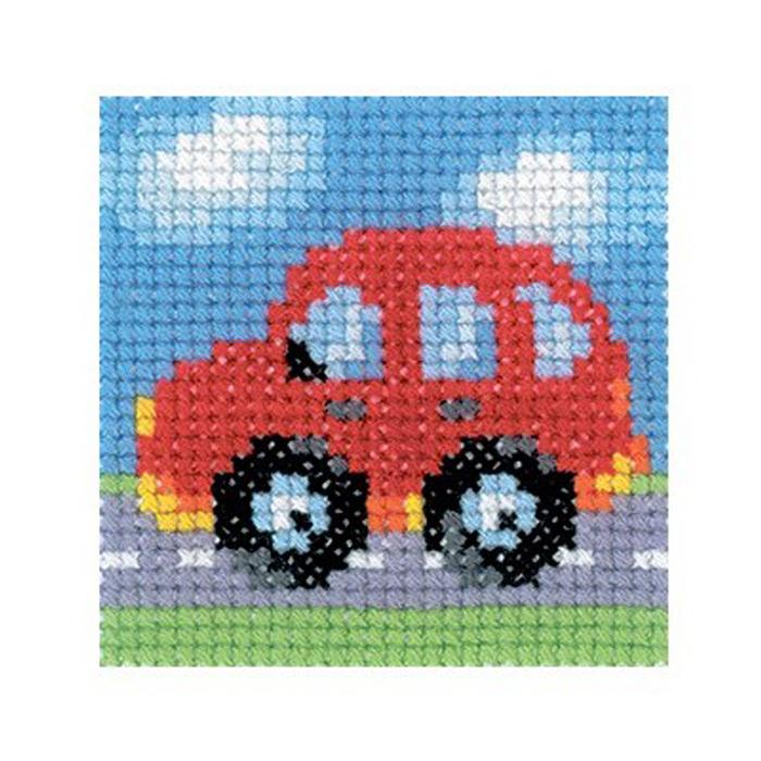 Набор для вышивания RTO Машина, 5 см х 5 см. MH533MH533Мулине, канва, цветная схема, игла, инструкция