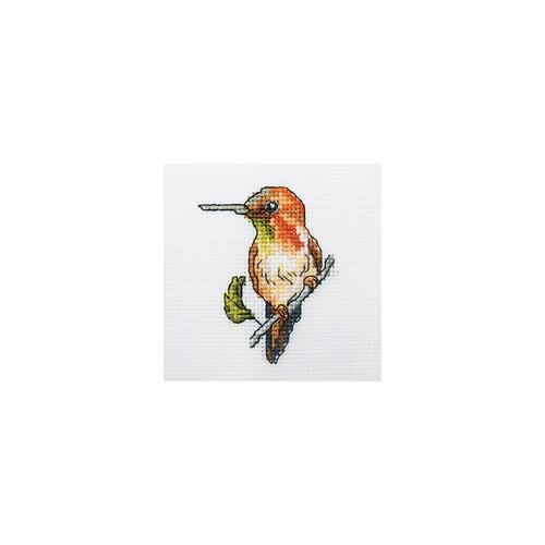 Набор для вышивания RTO Колибри, 10 см х 10 см. H221H221Мулине, канва, символьная схема, игла, инструкция