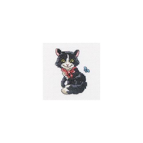 Набор для вышивания RTO Ласковый Чарли, 8 см х 8 см. H232H232Мулине, канва, символьная схема, игла, инструкция