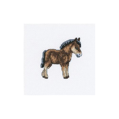 Набор для вышивания RTO Голландская лошадка, 10 см х 10 см. H255H255Мулине, канва, символьная схема, игла, инструкция