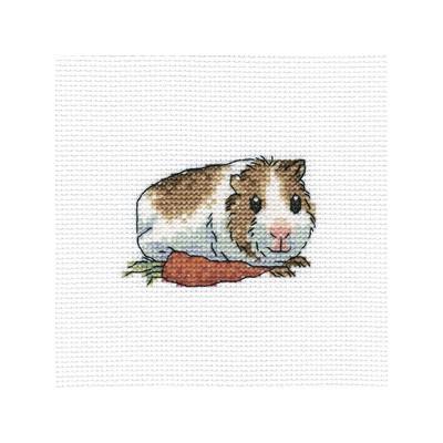 Набор для вышивания RTO Шуша с морковкой, 10 см х 10 см. H261H261Мулине, канва, символьная схема, игла, инструкция