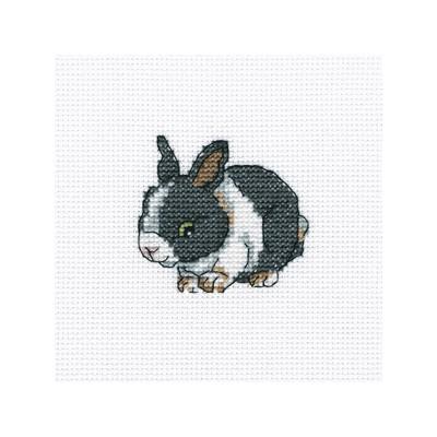 Набор для вышивания RTO Атласный кролик, 9 см х 9 см. H262H262Мулине, канва, символьная схема, игла, инструкция