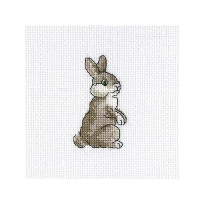 Набор для вышивания RTO Зайчонок, 9 см х 11 см. H264H264Мулине, канва, символьная схема, игла, инструкция
