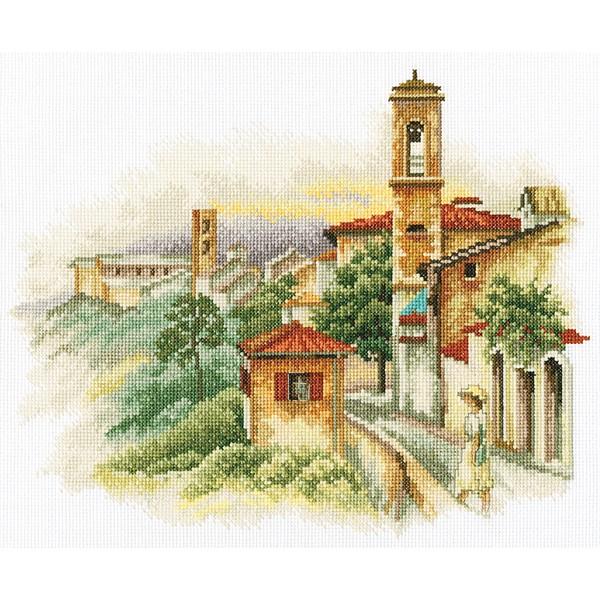 Набор для вышивания RTO Приморский городок, 33 см х 26 см. M357M357Мулине на карте, разобранное по цветам, канва, символьная схема, игла, инструкция