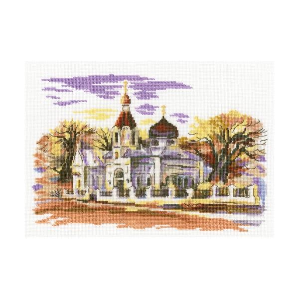 Набор для вышивания RTO Церковь Св. Марии Магдалины, 24 см х 17 см. M366M366Мулине на карте, разобранное по цветам, канва, символьная схема, игла, инструкция