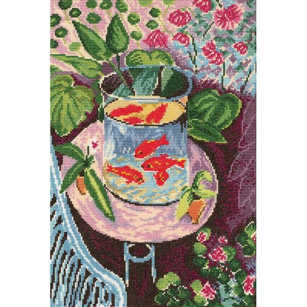 Набор для вышивания RTO Красные рыбки, 25 см х 37 см. M412M412Мулине на карте, разобранное по цветам, канва, символьная схема, игла, инструкция