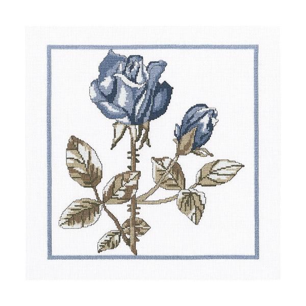 Набор для вышивания RTO Розы Снежной королевы, 23 см х 23 см. M458M458Мулине на карте, разобранное по цветам, канва, символьная схема, игла, инструкция