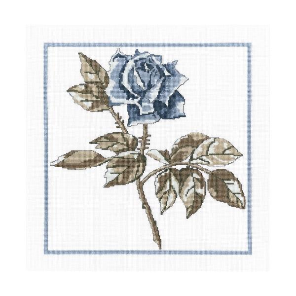 Набор для вышивания RTO Розы Снежной королевы, 23 см х 23 см. М459М459Мулине на карте, разобранное по цветам, канва, символьная схема, игла, инструкция