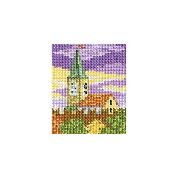 Набор для вышивания RTO Закат над городом, 9 см х 11 см. H269H269Мулине, канва, символьная схема, игла, инструкция