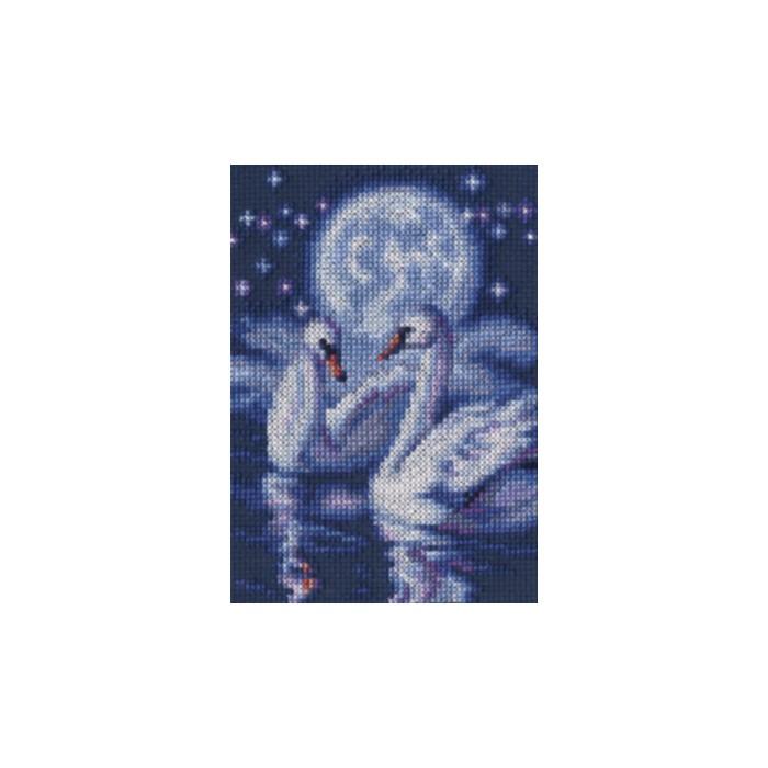 Набор для вышивания RTO Символ верности, 10,5 см х 15 см. С242С242Мулине на карте, разобранное по цветам, канва, символьная схема, игла, инструкция