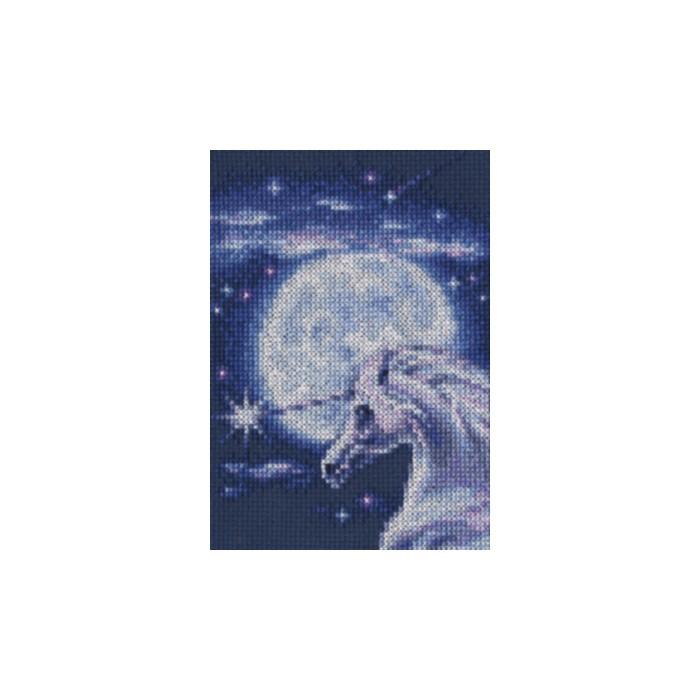 Набор для вышивания RTO Символ благородства, 10,5 см х 15 см. С244С244Мулине на карте, разобранное по цветам, канва, символьная схема, игла, инструкция