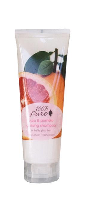 100% Pure Кондиционер для блеска волос Юзу и Помело, 236 мл1HCCYPG8ozЮзу и Помело - кондиционер, который придаст блеск и сияние волосам. Супер питательная формула дарит волосам глянцевый блеск, упругость и объем. Не содержат синтетических химических веществ, искусственных красителей, химических консервантов, сульфатов.