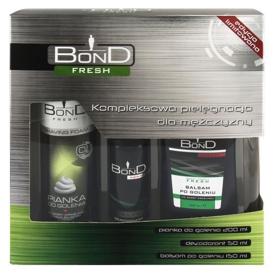 Bond Мужской Подарочный Набор Fresh (дезодорант DEO 150 мл + лосьон после бритья AS 100 ML+ пена для бритья PDG 50 ML) ( 5901501015973 )