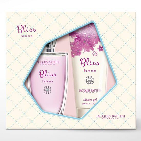 Jacgues Battini Cosmetics Подарочный Набор (Парфюмерная вода для женщин Bliss, 100 мл + гель для душа Bliss, 200 мл) ( 5902020049586 )