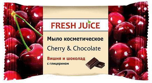 Fresh Juice мыло косметическое Cherry & Chocolate, 75 г8588006034363Эффективное очищение и смягчение кожи рук, созданного на основе соковых концентратов и пищевых вкусо-ароматических добавок. Косметическое мыло с ароматом Вишня и шоколад эффективно очищает кожу. Содержит глицерин и экстракт вишни