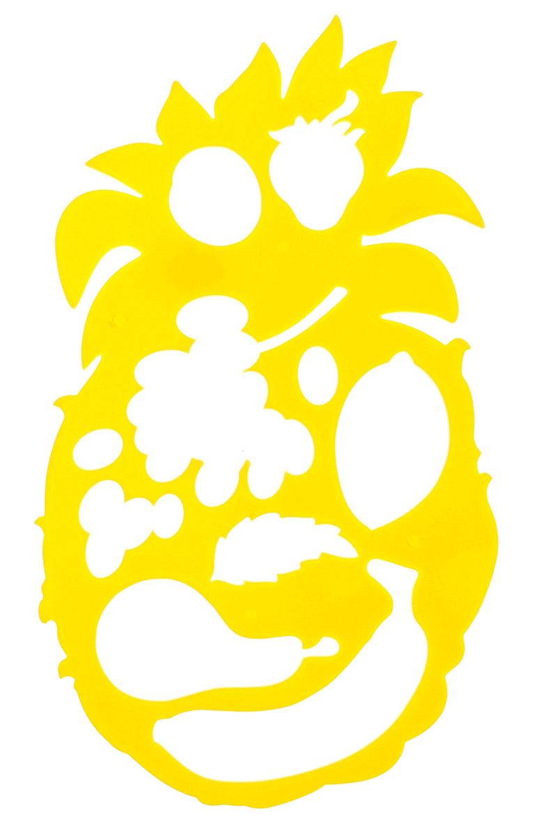 Луч Трафарет фигурный Ананас с фруктами цвет желтый