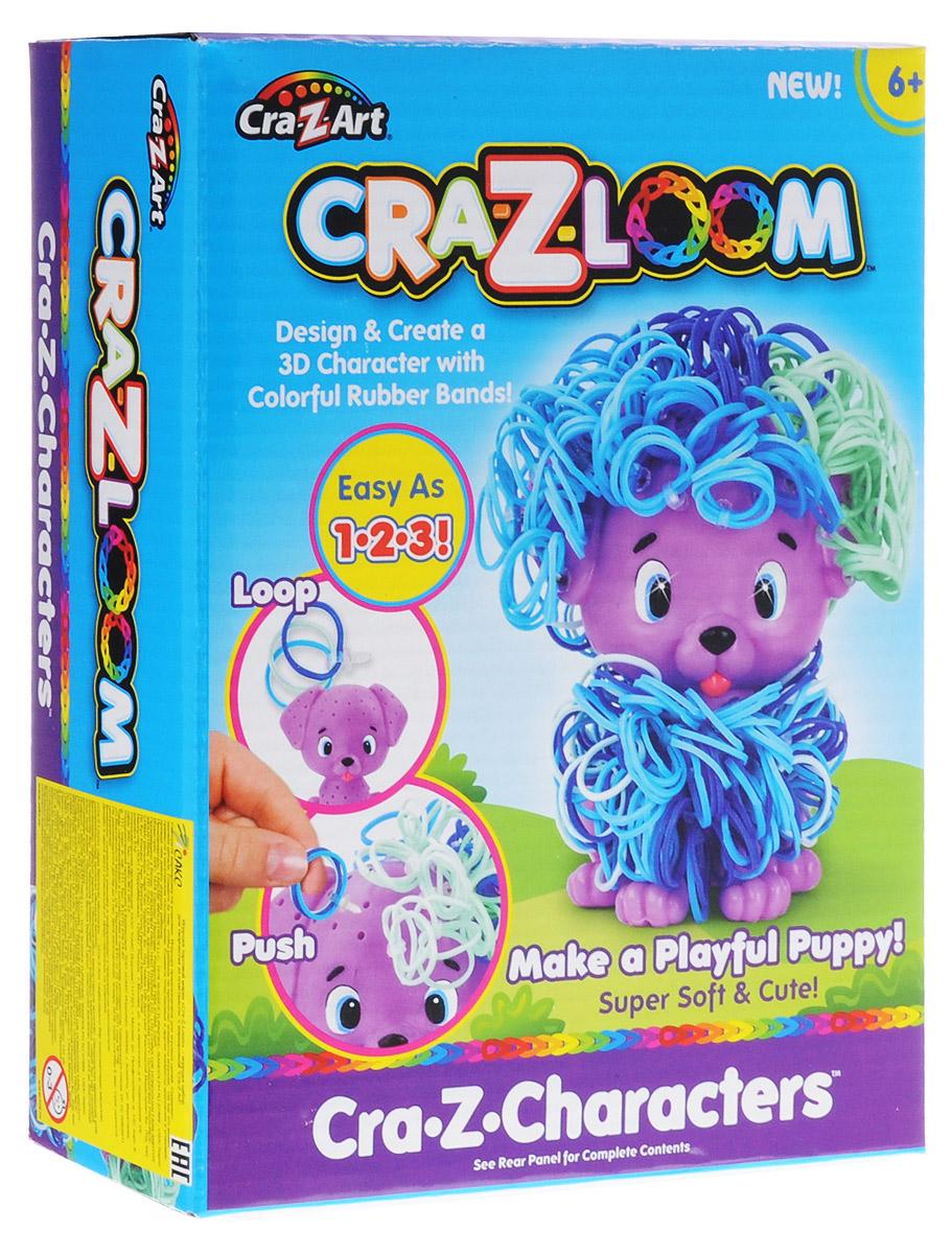 Crazy Loom Набор для плетения из резиночек Щенок19167Набор для плетения из резиночек Crazy Loom Щенок - это уникальная возможность сочетать увлекательнейший и полезный для развития мелкой моторики творческий процесс с веселой игрой. Набор включает в себя: фигурку симпатичного щенка, резиночки и крепления к ним. Сочетая резиночки четырех цветов вы можете создавать бесконечное количество вариантов внешнего вида своего игрушечного питомца. Резиночки выполнены из эластичного и прочного материала, который не деформируется и сохраняет свою форму. Начните украшать щеночка вместе с ребенком и вы получите совершенно новый творческий опыт, возможность проявить фантазию и воображение и, конечно же, просто замечательно проведете время!