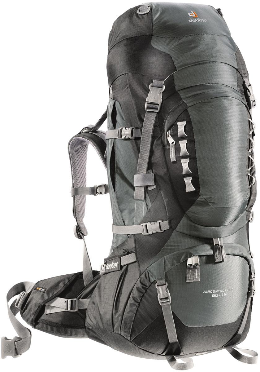 Рюкзак Deuter 2015 Aircontact PRO Aircontact PRO, цвет: серый, 60+15л