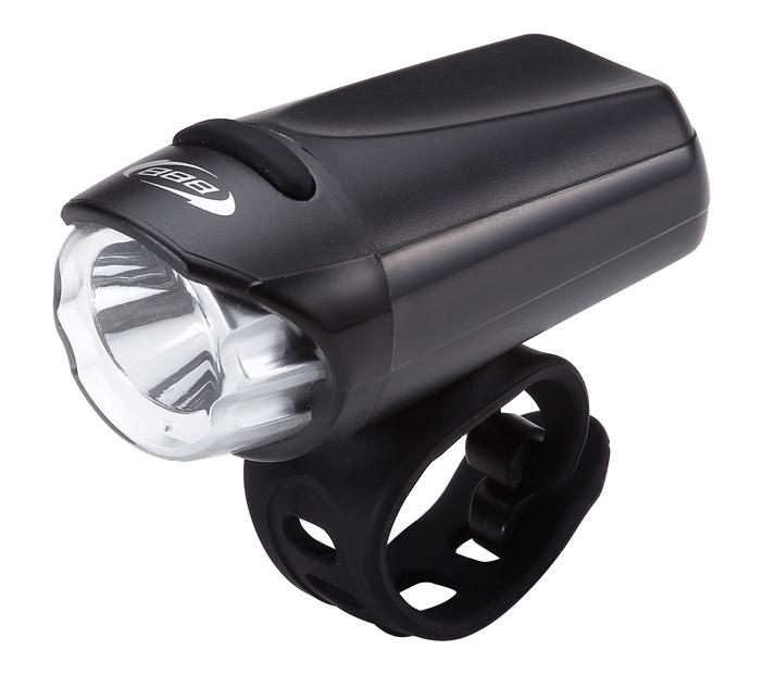 Фонарь передний BBB EcoBeam 0.2W with strap 3x AAA black/blackBLS-75Легкий и компактный фонарь. Используется яркий светодиод Philips Luxeon 3535 LED, 0,3 Вт. Водонепроницаемый корпус с герметизированной завинчивающейся головкой. Экономичное потребление энергии для долгой работы. Обрезиненная кнопка включения под цвет хомута. Простой в установке, настраиваемый силиконовый хомут для крепления на руль с регулировкой угла наклона в комплекте. Подходит для рулей с любым диаметром (стандартный и оверсайз). 2 режима: свет и мигающий. Питание от трех элементов питания ААА (в комплекте). Вес: 74 гр. Размер: 83х38х37 мм. Цвет: черный.