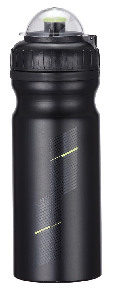 Фляга вело BBB 680CC AluTank matt blackBWB-25• Алюминиевая фляга. • Верхняя крышка выполнена из мягкого пластика, с запорным механизмом. • Объем: 680 мл /22.9 oz. • С прозрачной крышкой. • Цвета: черный матовый и матовый серебристый.