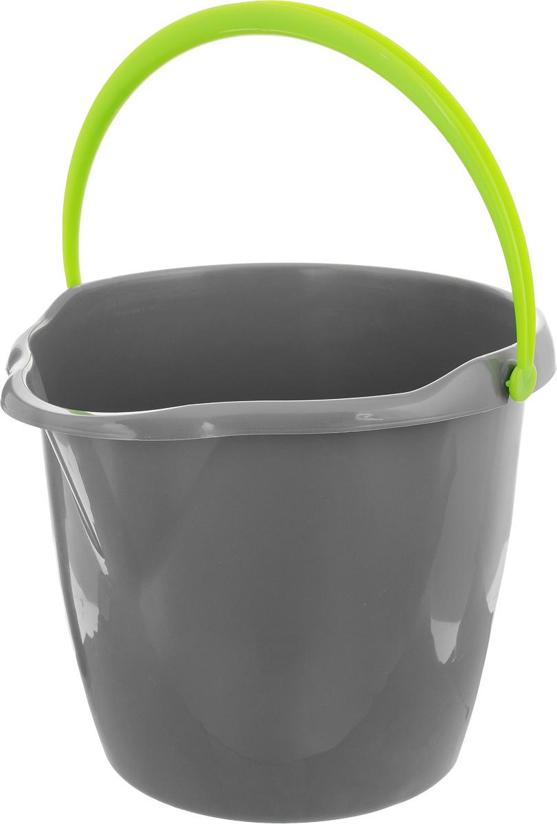 Ведро York, круглое, с носиком, цвет: серый, салатовый, 12 л7105_серый, салатовыйКруглое ведро York изготовлено из высококачественного пластика. Оно легче железного и не подвергается коррозии. Изделие оснащено носиком для слива и удобной пластиковой ручкой. Такое ведро станет незаменимым помощником в хозяйстве. Размер ведра (по верхнему краю): 32,5 х 29,5 см. Высота стенок: 26,5 см.