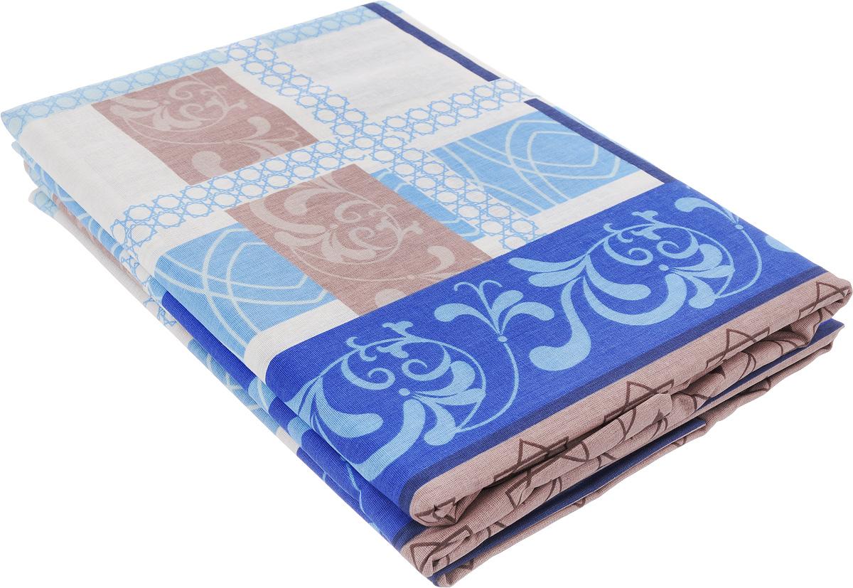 Комплект Олеся Цветочный дождь, 2-спальный: 2 простыни, 2 наволочки 70х70, цвет: голубой, белый, коричневый2050115956_голубой, коричневый, белыйКомплект белья Олеся Цветочный дождь, оформленное оригинальным принтом, красиво дополнит интерьер спальни и подарит незабываемое чувство комфорта и уюта во время сна. Комплект состоит из двух простыней и двух наволочек. Белье выполнено из бязи (100% хлопок). Эта ткань отличается высокой воздухопроницаемостью и мягкостью, но в то же время она очень прочна и устойчива к истиранию. Приятная на ощупь бязь идеально подходит для комфортного и спокойного сна, а благодаря долговечности такое белье выдержит многочисленные стирки без потери качества.