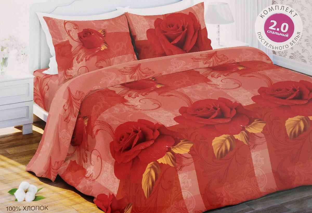 Комплект белья Любимый дом Роза, 2-спальный, наволочки 70х70, цвет: красный, розовый327655Комплект постельного белья Любимый дом Роза состоит из пододеяльника, простыни и двух наволочек. Постельное белье оформлено оригинальным изображением цветов и имеет изысканный внешний вид. Белье изготовлено из новой ткани Биокомфорт, отвечающей всем необходимым нормативным стандартам. Биокомфорт - это ткань полотняного переплетения, из экологически чистого и натурального 100% хлопка. Неоспоримым плюсом белья из такой ткани является мягкость и легкость, она прекрасно пропускает воздух, приятна на ощупь, не образует катышков на поверхности и за ней легко ухаживать. При соблюдении рекомендаций по уходу, это белье выдерживает много стирок, не линяети не теряет свою первоначальную прочность. Уникальная ткань обеспечивает легкую глажку. Приобретая комплект постельного белья Любимый дом Роза, вы можете быть уверены в том, что покупка доставит вам и вашим близким удовольствие и подарит максимальный комфорт.