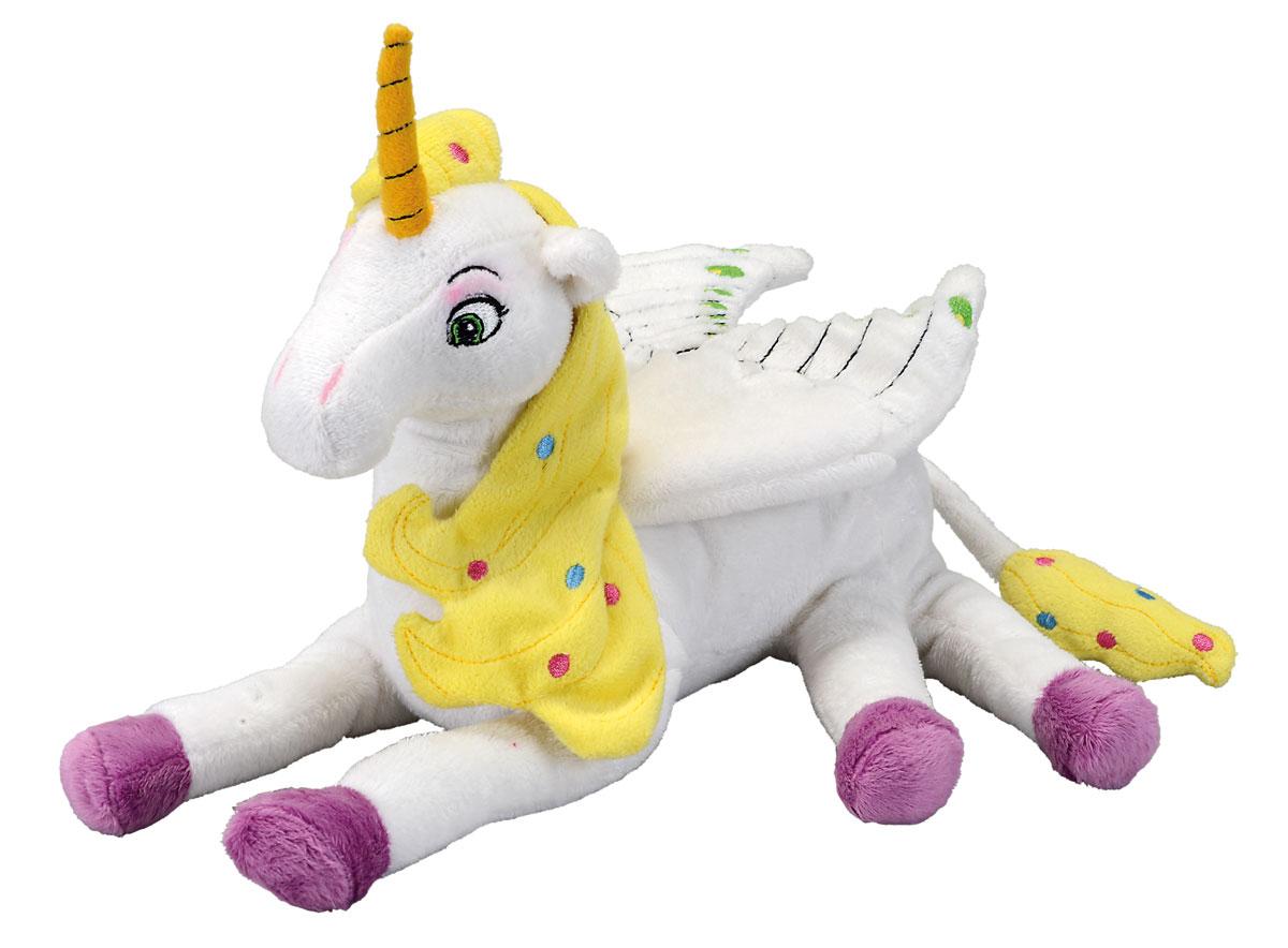 Simba Мягкая игрушка Единорог Onchao 30 см9487710Мягкая игрушка Mia and Me Единорог Onchao с крыльями станет чудесным подарком вашему малышу! Плюшевый единорожек Ончао - белый и очень мягкий. Высокое качество тканей подарить нежные прикосновения малышу, а возможно и поклоннице постарше! Игрушка не содержит мелких деталей, а все рисунки и глазки вышиты нитками, поэтому игрушечный единорог подходит для детей с рождения! Игрушка, созданная по мотивам мультфильма Mia and Me, украсит любую детскую комнату и принесет радость и веселье во время игр. Мягкая игрушка Единорог Onchao поможет развить тактильные навыки, зрительную координацию, воображение и мелкую моторику рук. Порадуйте своего ребенка таким замечательным подарком!