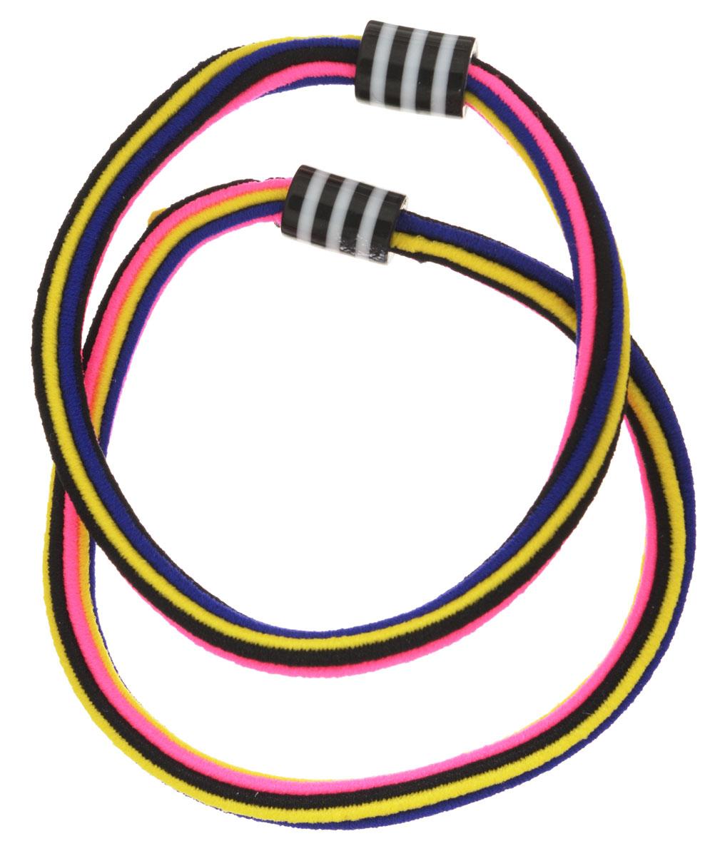 Baby's Joy Резинка для волос цвет желтый розовый черный 2 шт VT 175