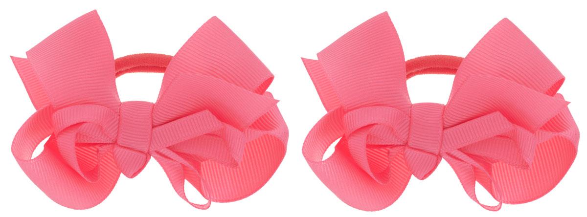 Baby's Joy Резинка для волос цвет коралловый 2 шт VT 55