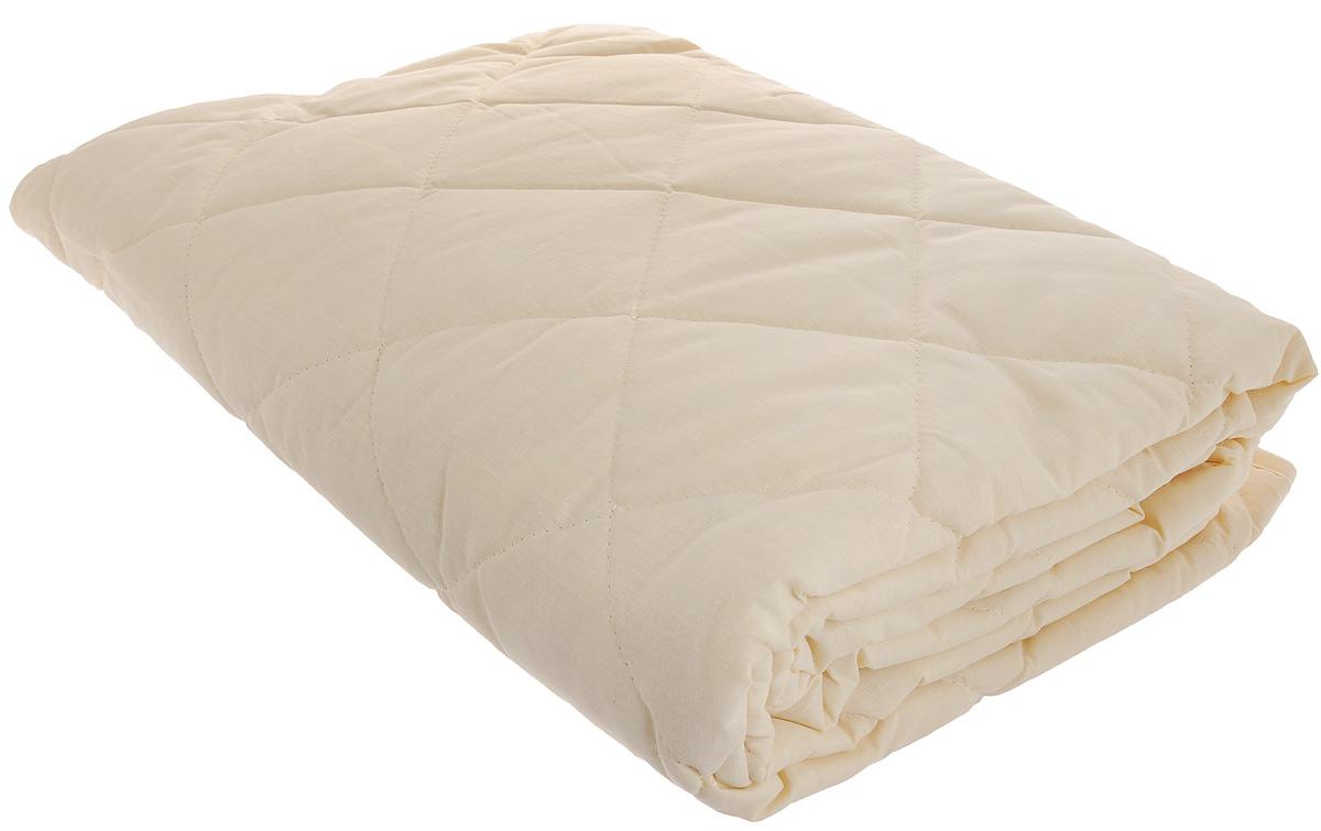 Наматрасник Легкие сны, наполнитель: овечья шерсть, 90 х 200 смНМ-090-ОШНаматрасник Легкие сны защитит ваш матрас от загрязнений, влаги и пыли, значительно продлевая срок его службы. В качестве наполнителя используется овечья шерсть. Шерсть овцы, благодаря волнистой структуре, хорошо сохраняет тепло и держит форму. Наматрасник, наполненный этим волокном, очень мягкий, легкий и обладает энергетикой натурального материала. Наличие в шерсти ланолина придает изделиям лечебно- профилактические свойства. Проникая в поры кожи, животный жир способствует уменьшению болей в спине. Такой наматрасник станет находкой для людей, страдающих радикулитом. Чехол изделия пошит из поликоттона, прочного и простого в уходе материала, не теряющего своих первоначальных свойств даже при частых стирках. Чехол простеган фигурной строчкой, поэтому наполнитель равномерно распределен внутри и не скатывается. Наматрасник фиксируется по углам при помощи эластичных лент, которые прочно удерживают изделие и не позволяют ему смещаться во время сна. ...
