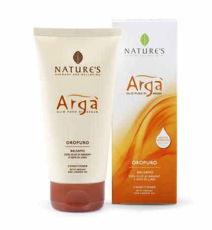 Natures Арга Кондиционер для волос, 150 мл60150922Формула содержит масла Арги и Льняного семени для увлажняющего, смягчающего и реструктуризирующего воздействия, экстракт Алоэ Вера для защиты кожи головы. Восстанавливает естественную мягкость и яркость, оставляя волосы шелковистыми. Облегчает расчесывание, с эффектом сияния.