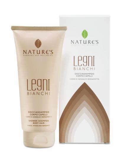 Nature's Legni Bianchi Шампунь и гель для душа, 200 мл
