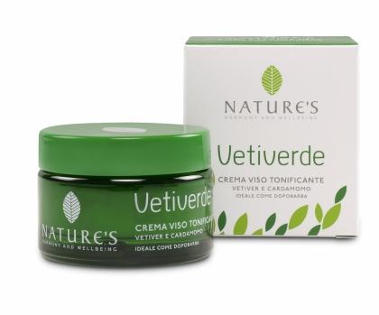 Natures Vetiverde Крем для лица, 50 мл60410201Эффективные формулы крема для лица, состоящие из ингредиентов растительного происхождения, повышают тонус и придают эластичность, свежесть коже. Легкая текстура обеспечивает быструю впитываемость. Крем глубоко увлажняет и питает. Идеально подходит в качестве бальзама после бритья. Подходит для самой чувствительной кожи.