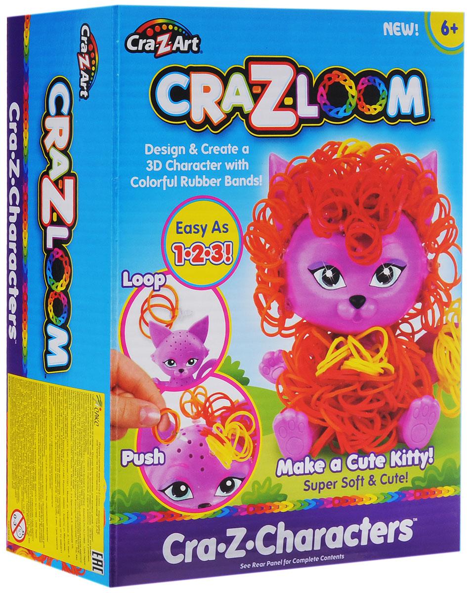 Crazy Loom Набор для плетения из резиночек Котик19168Набор для плетения из резиночек Crazy Loom Котик не оставит равнодушным ни одну девочку! Это уникальная возможность сочетать увлекательный и полезный для развития мелкой моторики творческий процесс с веселой игрой. В наборе вы найдете фигурку маленького кота, которую вам предстоит доработать своими руками, украсив разноцветными резиночками! В комплект набора входят резиночки четырех цветов и крючки для крепления кудряшек! Сочетая резиночки различных цветов, вы можете создавать бесконечное количество вариантов внешнего вида своего питомца. Начните украшать котика вместе с ребенком и получите совершенно новый творческий опыт, возможность проявить фантазию и воображение и, конечно же, просто замечательно проведете время!