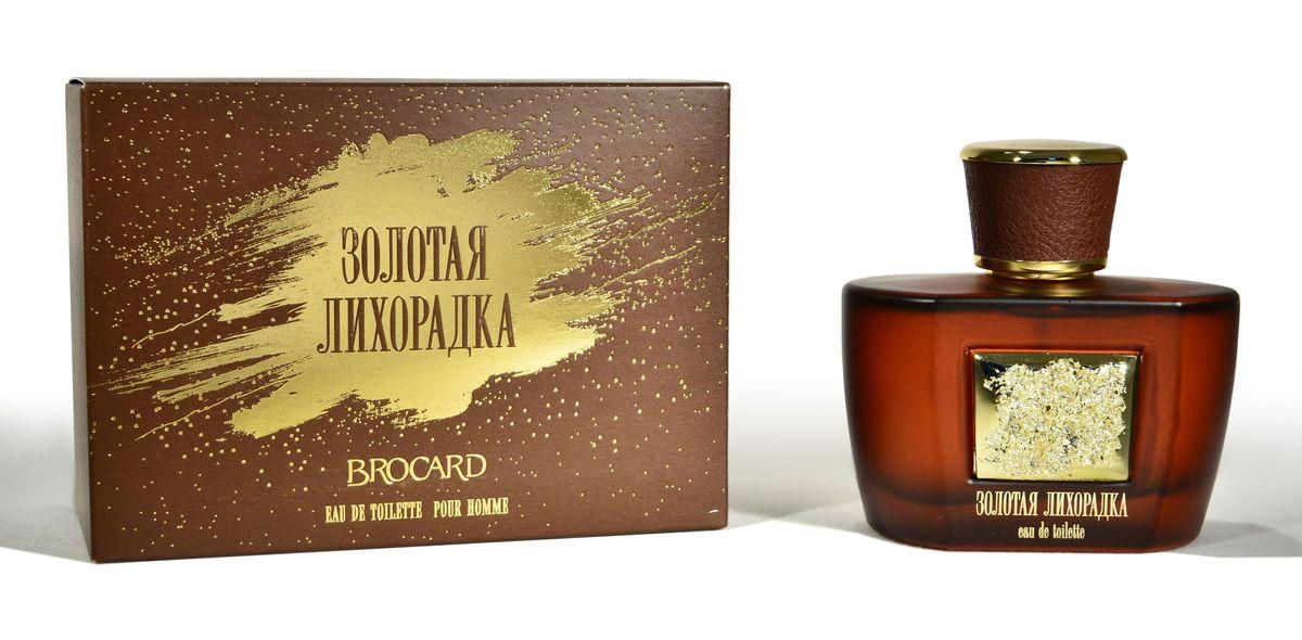 Brocard Золотая Лихорадка Туалетная вода для мужчин, 100 мл395406Благородный и насыщенный древесно-амбровый аромат.Верхние ноты: розмарин, лаванда, нероли. Сердце: гальбанум, мускат, шалфей, жасмин, герань, полынь. Базовые ноты: сандаловое дерево, амбра, дубовый мох, ветивер