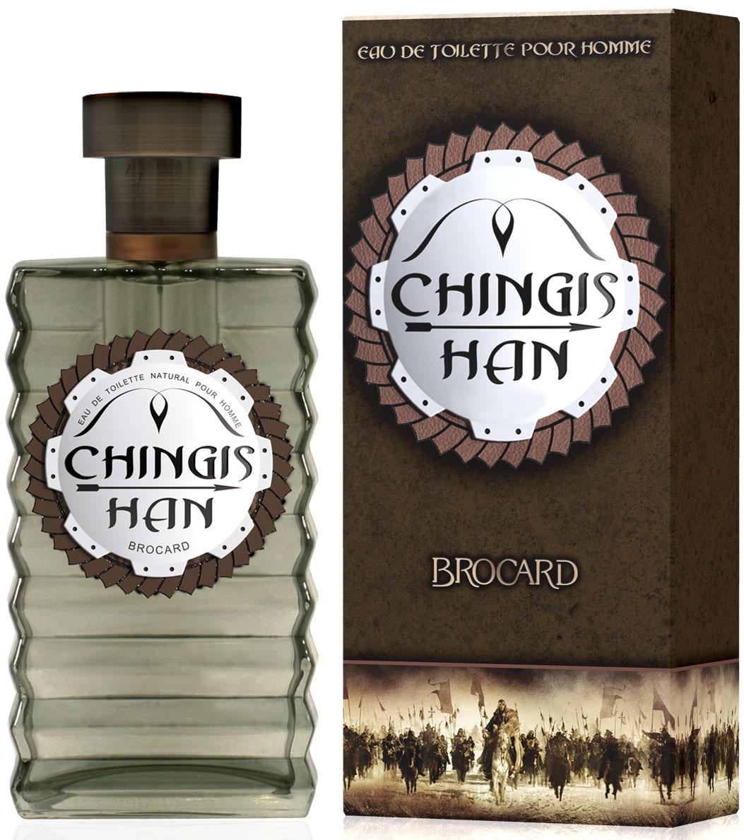 Brocard Chingishan Туалетная вода для мужчин, 100 мл394733Верхние ноты: бергамот, кордамон Ноты сердца: ананас, роза, лист фиалки Базовые ноты: мох, бобы тонка, древесные, мускусные