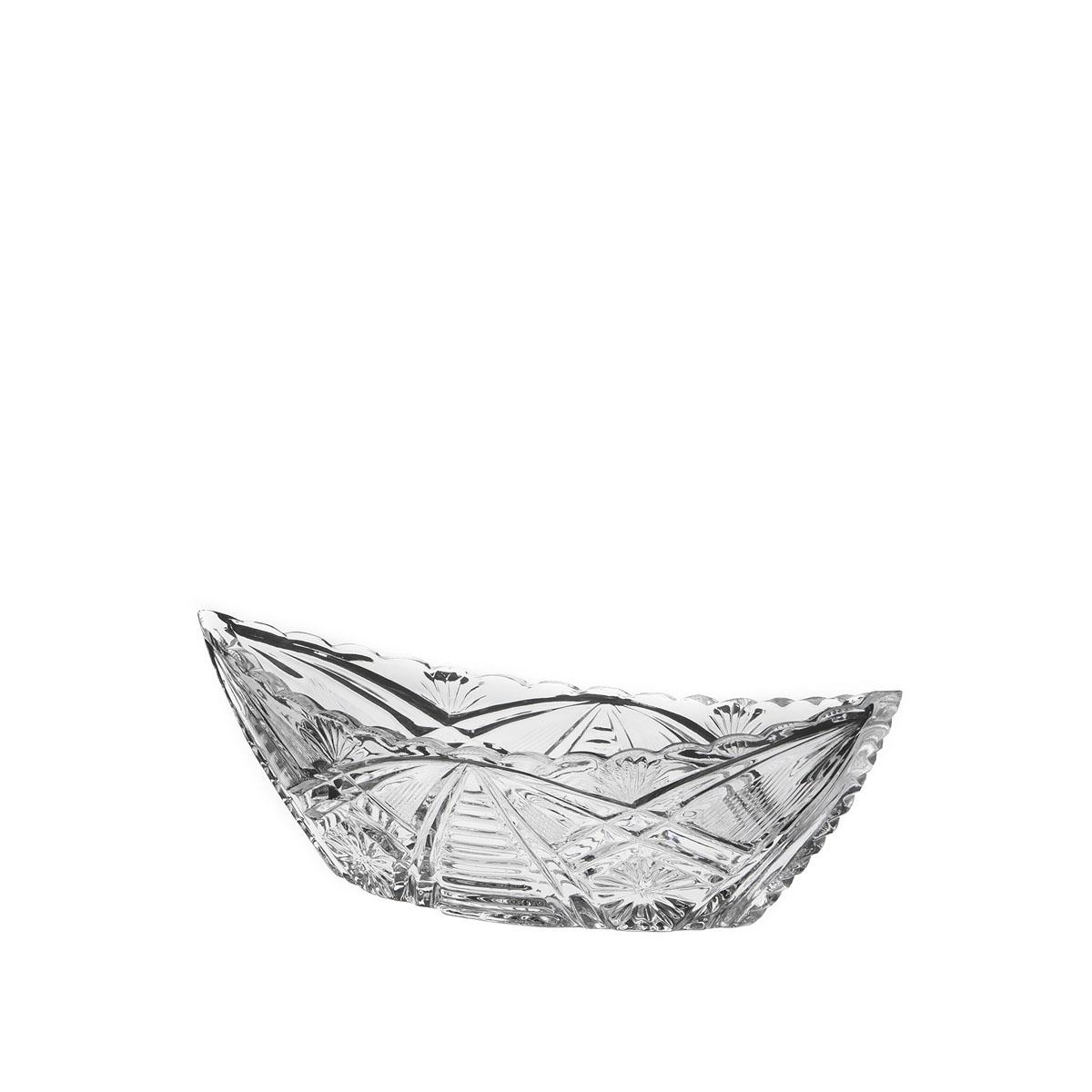 Салатник Дятьковский хрусталь Лодочка. С73С73Салатник из прозрачного хрусталя будет красиво и элегантно смотрится на столе и в качестве салатника, конфетницы или вазочки для печенья. Сверкающий хрусталь фирменного качества, тонкой огранки, с изумительным звучанием и завораживающими переливами света в гранях – одно из главных украшений праздничного застолья или официального приема и прекрасный подарок!