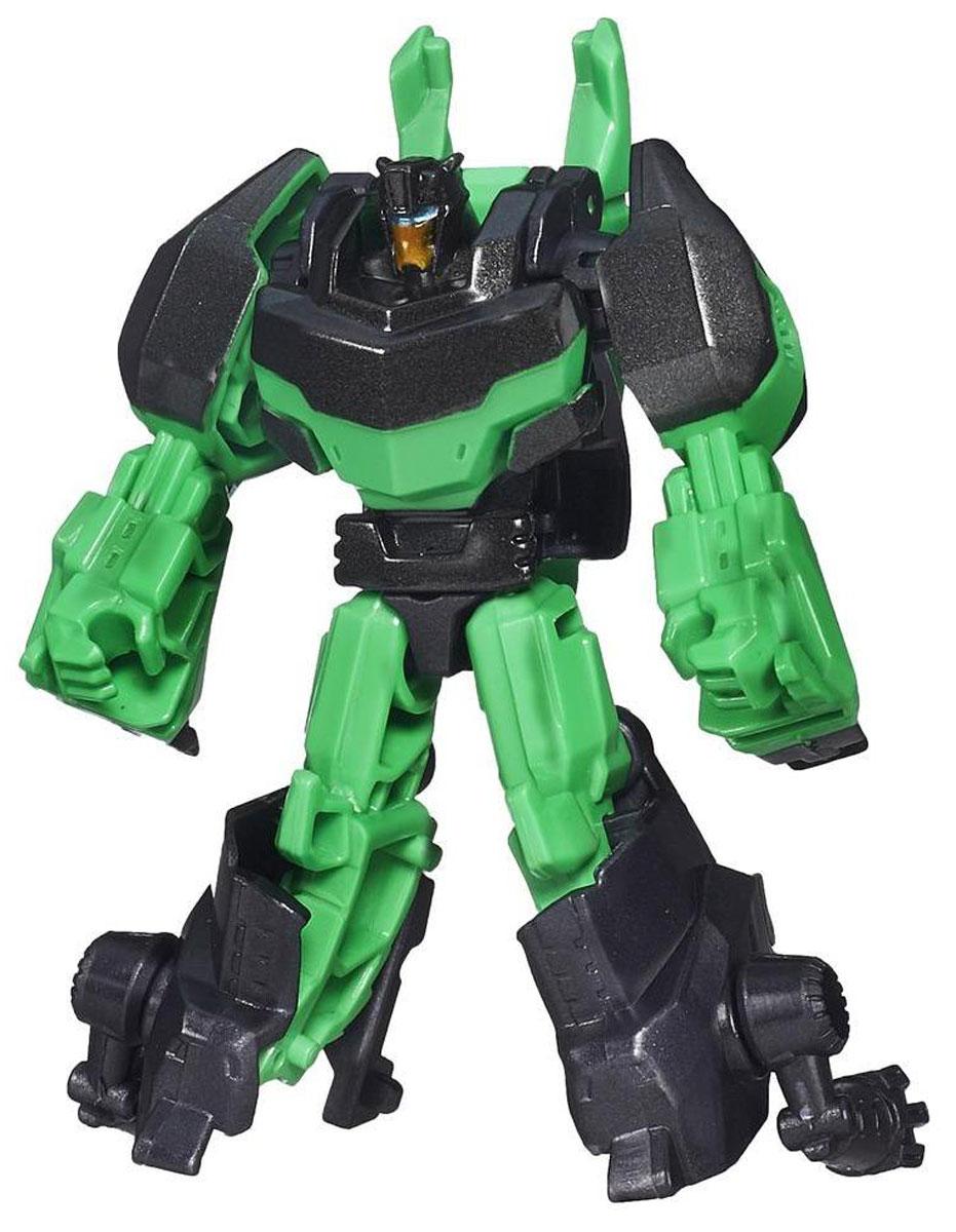 Transformers Трансформер GrimlockB0065_B0895Гримлок - самый сильный из всех Диноботов, и к тому же на редкость высокомерный. Хладнокровен и безжалостен к врагам, но и друзей у него нет (Диноботы, конечно, не в счет); он свысока смотрит на всех, кого считает слабее себя, вне зависимости от того, люди это или трансформеры. Однако при всех минусах в характере и поведении, Гримлок, несомненно, доблестный воин, который невольно вызывает уважение как у автоботов, так и десептиконов. Трансформер Grimlock обязательно понравится любому маленькому поклоннику знаменитых Трансформеров! Игрушка выполнена из прочного пластика. Руки и ноги робота подвижны. В несколько простых шагов малыш сможет трансформировать фигурку робота в динозавра. Фигурка отличается высокой степенью детализации. Ребенок с удовольствием будет играть с фигуркой, придумывая различные истории. Порадуйте его таким замечательным подарком!