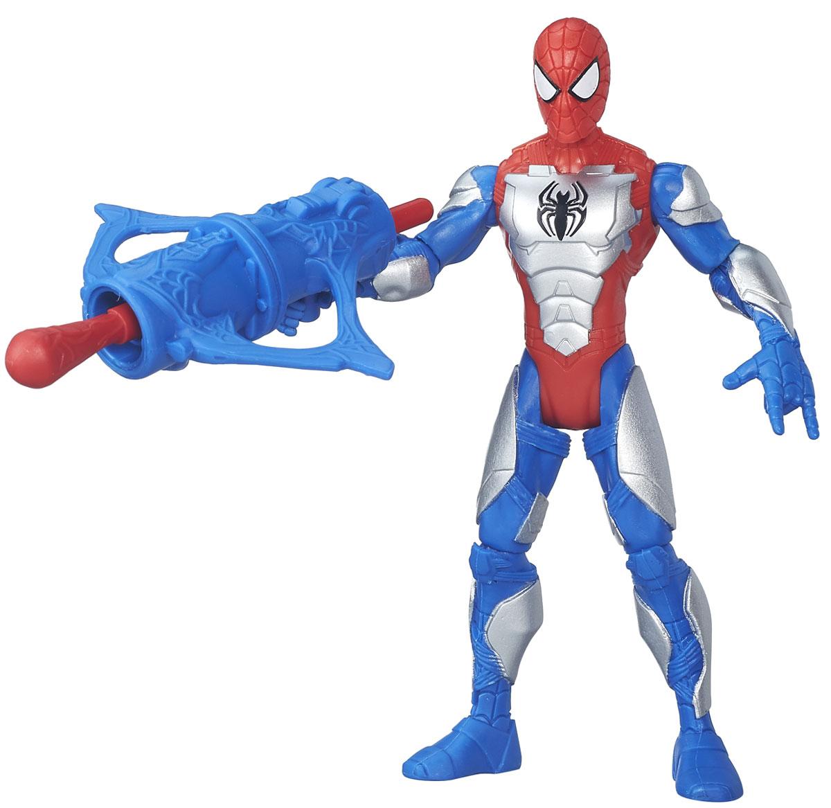 Spider-Man Фигурка Человек-паук в бронеB5758_B5876Фигурка Spider-man Человек-паук в броне порадует любого поклонника знаменитой вселенной Marvel. Фигурка изготовлена из высококачественного прочного пластика и выполнена в виде всем известного Человека-паука. Фигурка имеет 5 точек артикуляции - голова, руки и ноги подвижны. К фигурке прилагается оружие. Фигурка Spider-man Человек-паук в броне понравится как детям, так и взрослым коллекционерам, она станет отличным сувениром и займет достойное место в коллекции любого поклонника комиксов Marvel.