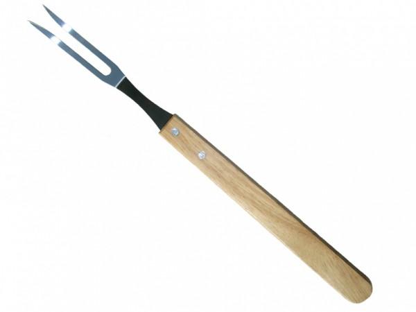 Вилка для гриля, ROYALGRILL80-007Вилка для гриля. Изготовлена из стали, ручка деревянная.