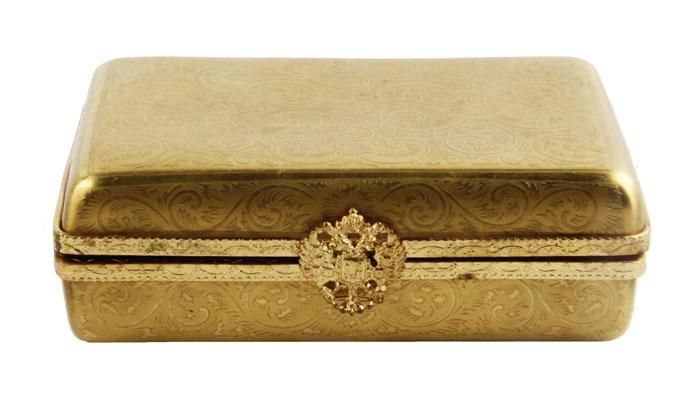 Шкатулка для драгоценностей. Фарфор, металл, золочение. Фаберже, при участии Limoges, Франция, конец XX века
